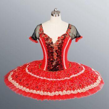 Red platter tutu dress