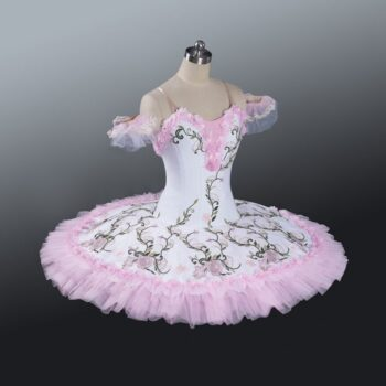 White and pink ballet professional tutu dress