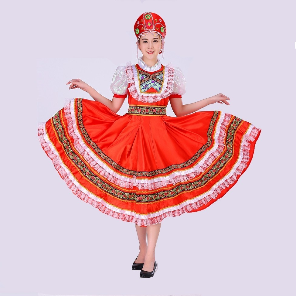 Classical Traditional Russian Dance Costume Dress
